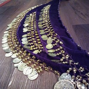 Belly dancing sash belt